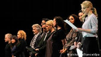 German celebrities on stage at Lit.COLOGNE