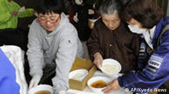 Soup being distributed in Japan