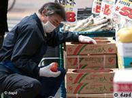 Japão identificou níveis elevados de radiação em alimentos