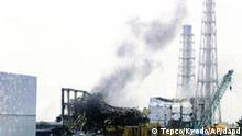 In this photo released by Tokyo Electric Power Co. (TEPCO) via Kyodo News, gray smoke rises from Unit 3 of the tsunami-stricken Fukushima Dai-ichi nuclear power plant in Okumamachi, Fukushima Prefecture, Japan, Monday, March 21, 2011. Official says TEPCO temporarily evacuated its workers from the site. (Foto:Tokyo Electric Power Co. via Kyodo News/AP/dapd) JAPAN OUT, MANDATORY CREDIT, NO LICENSING IN CHINA, HONG KONG, JAPAN, SOUTH KOREA AND FRANCE