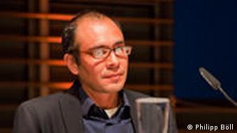 Yuri Herrera en la LitCologne, en 2011.