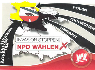 NPD poster in Saxony-Anhalt
