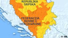 Karte Bosnien und Herzegowina Gliedstaaten bosnisch