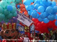 رفیع پیر تھیٹر کی جانب سے منعقد پُتلی میلے کا ایک منظر