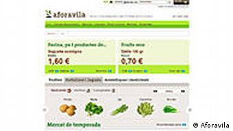 Organic produce website