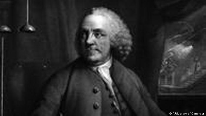 Benjamin Franklin, portret na slici