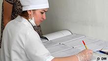 Tadschikistan Krankenschwester im Krankenhaus