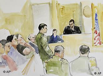 Courtroom sketch of Jeremy Morlock's trial