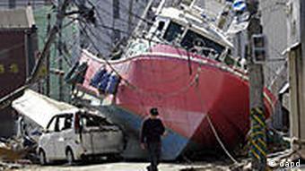 Japan Erdbeben Tsunami Zerstörungen in der Stadt Ishinomaki