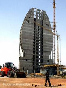 The Tower of the Great Opening hotel in Khartoum, built with Libyan money