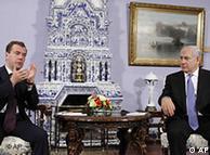 در پی کاهشها تنشها میان اسراییل و حماس، نتانیاهو در سفر خود به روسیه با مدودف دیدار داشت