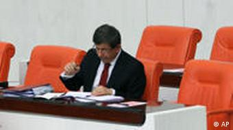 Turkish Foreign Minister Ahmet Davutoglu in Ankara March 24, 2011