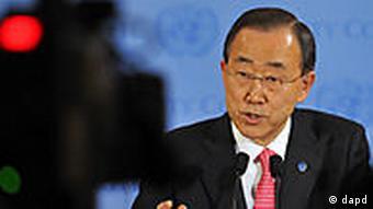 USA UN Generalsekretär Ban Ki Moon in New York zu Libyen