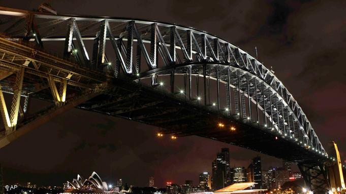 Earth Hour: Sydney im Dunkeln (Foto: AP)