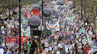 Anti-austerity protests in London