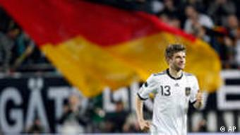 Thomas Müller celebrates on of his goals