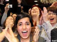 شادی هواداران حزب سبزها