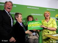 رهبران حزب سبزها پس از اعلام نتایج اولیه