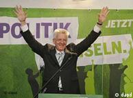 Winfried Kretschmann, head of the Greens in Baden-Württemberg