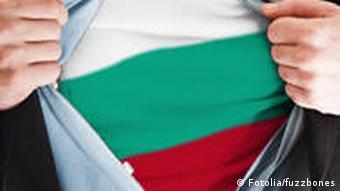 Symbolbild Bulgarien Flagge Bürger Nation