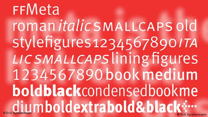 Font examples for 'meta'