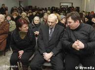 Андрей Почобут (на фото справа) на мероприятии Союза поляков Беларуси