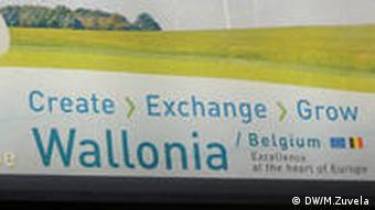 A billboard advertising Wallonia