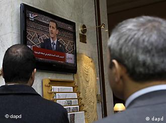 Assad speaking on television