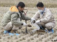 Mediciones de radiación en Fukushima.