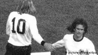 Günter Netzer is substituted on for Wolfgang Overath