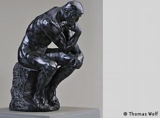 """مجسمه """"متفکر"""" ساخت پیکرهساز نامدار فرانسوی، آگوست رودن"""