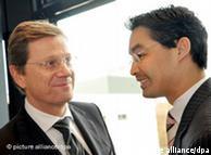 گیدو وستروله و فیلیپ روسلر، وزیر امور بهداشت و درمان آلمان