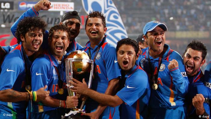World Cup Cricket 2011 Finale Indien Sri Lanka Flash-Galerie (dapd)