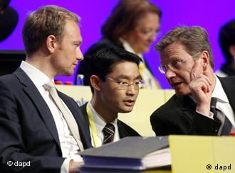 Guido Westerwelle, Christian Lindner and Philipp Roesler