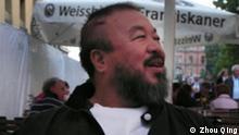 Titel: Ai Weiwei zusammen mit dem Schriftsteller Zhou Qing in München Der chinesische Künstler Ai Weiwei am Rande einer Ausstellung in München 2010. Ai Weiwei, der sich auch als Bürgerrechtler prominent engagiert, wurde am 3. April 2011 auf dem Pekinger Flughafen von der Grenzpolizei festgenommen. Copyright Foto: Zhou Qing Aufnahmedatum unbeaknnt Schlagwörter: Ai Weiwei, China, Peking, Festnahme, Künstler, Dissident, Menschenrechtler, Oppositioneller, Aktivist