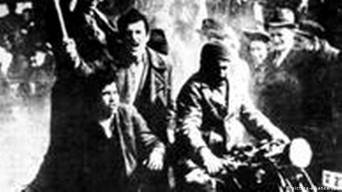 Nach der Unterzeichnung des Beitritts von Jugoslawien zum Dreimächtepakt am 25.03.1941 kam es in der jugoslawischen Hauptstadt Belgrad zu schweren Unruhen nach dessen Verlauf die Unterzeichnung am 27.03.1941 wieder aufgehoben wurde. Foto: Tanjug-Foto +++(c) dpa - Report+++