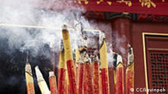 Burning incenses sticks
