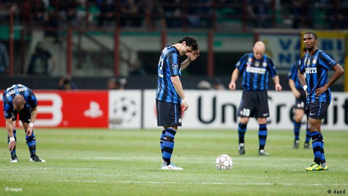 Igrači Intera tuguju
