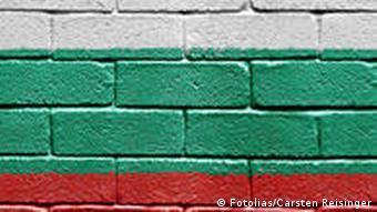 Bulgarische Flagge an einer Wand
