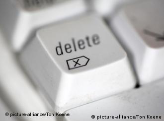 A delete key on a keyboard