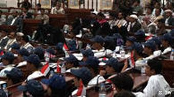 The elected youth sitting in parliament
