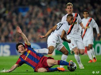 Brazilian midfielder Costa Douglas during a quarterfinal first leg Champions League soccer match at the Nou Camp, in Barcelona