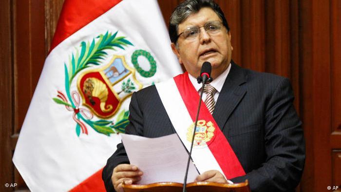 Peru Präsident Alan Garcia Flash-Galerie (AP)