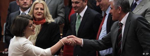 NO FLASH Atifete Jahjaga Kosovo Präsidentin Wahl 07.04.2011