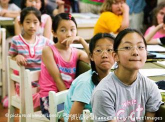 Schulklasse in Südkorea