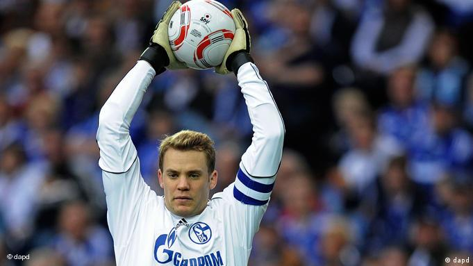 Manuel Neuer makes a save