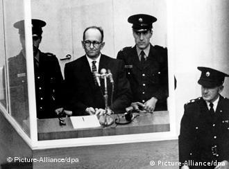 Adolf Eichmann during his trial<br /> Photo: +++(c) dpa - Bildfunk+++