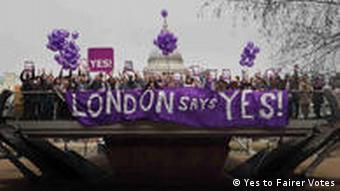 Yes campaigners in London