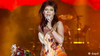 Famous for her sexy outfits: Schlager queen Andrea Berg. Photo: Eckehard Schulz/dapd