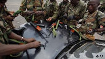 Elfenbeinküste Truppen von Ouattara in Abidjan